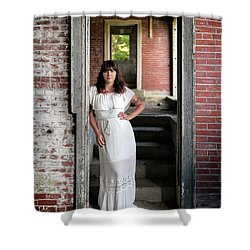 Shower Curtain featuring the photograph In The Doorway by Rick Berk