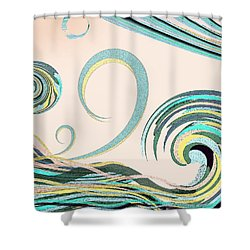Shower Curtain featuring the digital art In The Drink by Deborah Smith