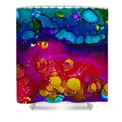 Shower Curtain featuring the painting In The Flow 1 by Angela Treat Lyon
