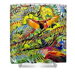 Birds In The Forest Shower Curtain