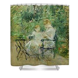 In The Garden Shower Curtain by Berthe Morisot