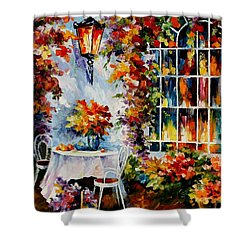 In The Garden Shower Curtain by Leonid Afremov