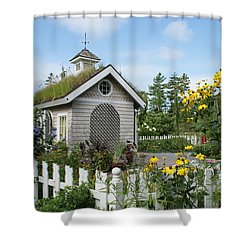 In The Garden Shower Curtain by Lois Lepisto