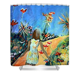 In The Garden Of Joy Shower Curtain