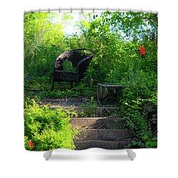 In The Garden Shower Curtain by Teresa Mucha