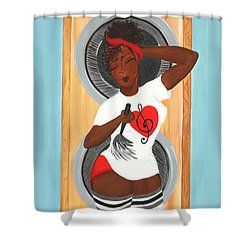 In The Groove Shower Curtain