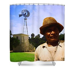 Shower Curtain featuring the photograph In The Groves by Timothy Bulone