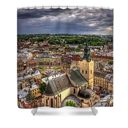 In The Heart Of The City Shower Curtain by Evelina Kremsdorf