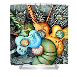 In The Key I See Shower Curtain by Linda Shackelford