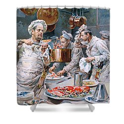 In The Kitchen Shower Curtain by G Marchetti