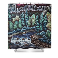 In The Land Of Dreams Shower Curtain by Cheryl Pettigrew