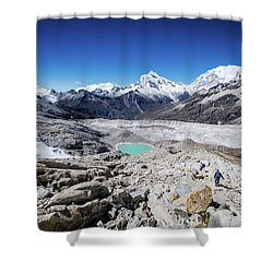 In The Middle Of The Cordillera Blanca Shower Curtain