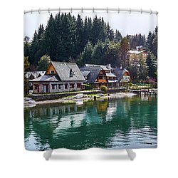 Rustic Museum In The Argentine Patagonia Shower Curtain