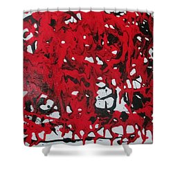 Shower Curtain featuring the painting In  The Midst Of Passion by Sharyn Winters