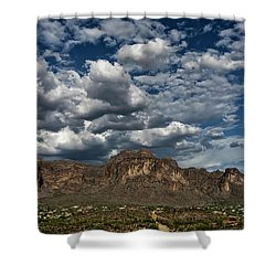 Shower Curtain featuring the photograph In The Midst Of The Superstitions  by Saija Lehtonen