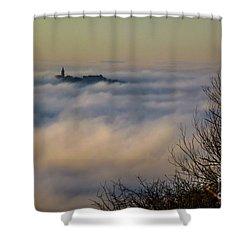 In The Mist 1 Shower Curtain by Jean Bernard Roussilhe