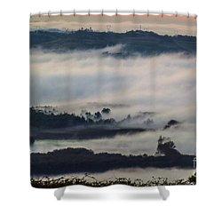 In The Mist 2 Shower Curtain by Jean Bernard Roussilhe