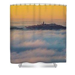 In The Mist 3 Shower Curtain by Jean Bernard Roussilhe