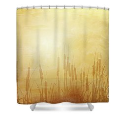 In The Mist - II  Shower Curtain