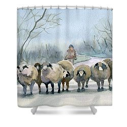 In The Morning Mist Shower Curtain