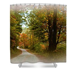 Shower Curtain featuring the digital art In The Mountains Of Georgia by Sharon Batdorf