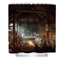 In The Name Of Odin Cover Art Shower Curtain