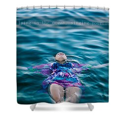 In The Ocean Shower Curtain