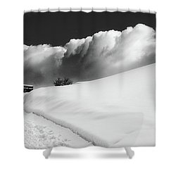 in the Ore Mountains Shower Curtain by Dorit Fuhg