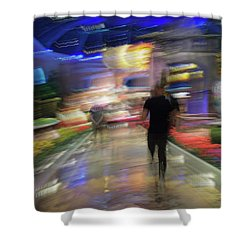 Shower Curtain featuring the photograph In The Presence Of The Sun God by Alex Lapidus