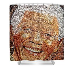 Nelson Mandela - In The Pyramid Of Our Minds Shower Curtain