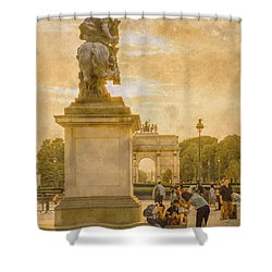 Paris, France - In The Shadow Of Glory Shower Curtain