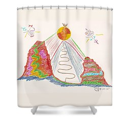 In The Spotlight Shower Curtain by Mark David Gerson