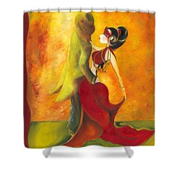 In The Spotlight  Shower Curtain