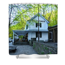Shower Curtain featuring the photograph In The Spring At Valley Green Inn by Bill Cannon