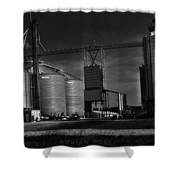 In The Still- Black And White Shower Curtain