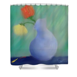 Shower Curtain featuring the painting In The Still Of The Light by Kevin Caudill