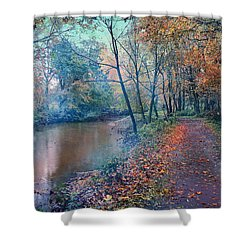 Shower Curtain featuring the photograph In The Stillness Of The Morning by John Rivera
