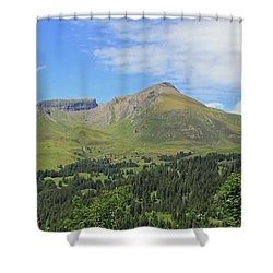 In The Swiss Alps Jungfrau Region Shower Curtain