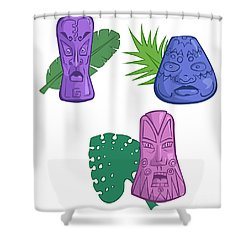 In The Tiki Room Shower Curtain