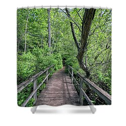 In The Trees Shower Curtain
