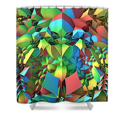 Shower Curtain featuring the digital art In The Tropics by Lyle Hatch