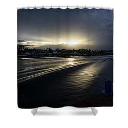 Shower Curtain featuring the photograph In The Wake Zone by Laura Fasulo