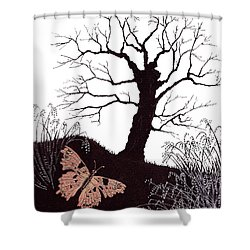 In The Winter Woods Shower Curtain by Stanza Widen