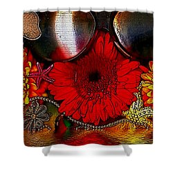 In The Wood Of Fantasy By The Water Shower Curtain by Pepita Selles