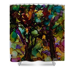 In The Woods Shower Curtain by Alika Kumar