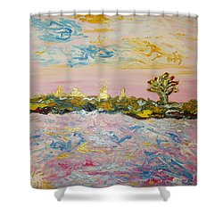 In The World Of Illusions Shower Curtain