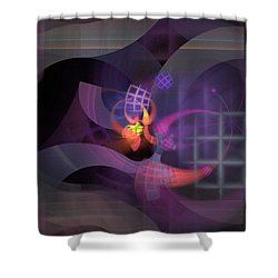 In The Year Of The Tiger - Fractal Art Shower Curtain by NirvanaBlues
