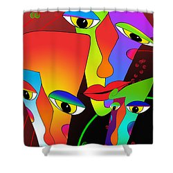 In The Zone Shower Curtain