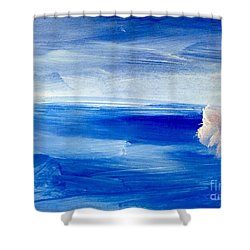 Shower Curtain featuring the painting In This Sea Of Life by Trilby Cole