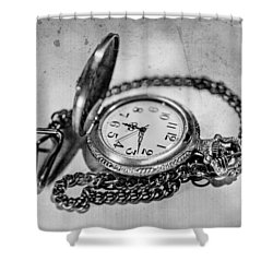 In Time Shower Curtain by Martina Fagan